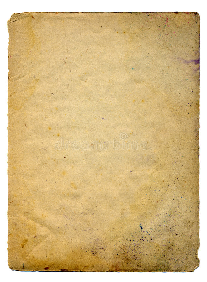 老纸扫描 图库摄影