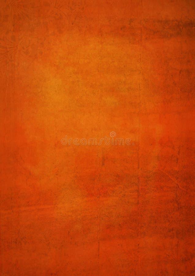 老纸橙色grunge背景 库存图片