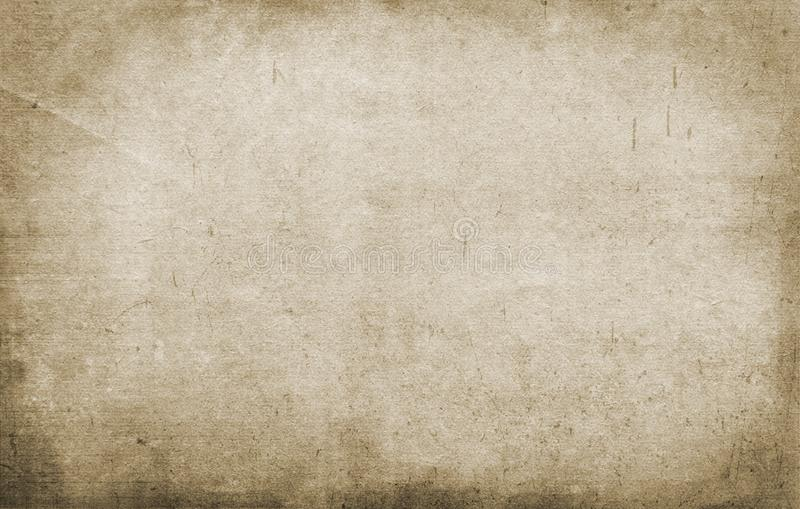 老纸纹理,难看的东西背景,减速火箭,葡萄酒,棕色,空,粗砺,污点,条纹 皇族释放例证