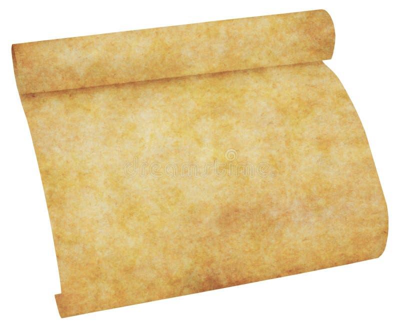老纸羊皮纸滚动 向量例证