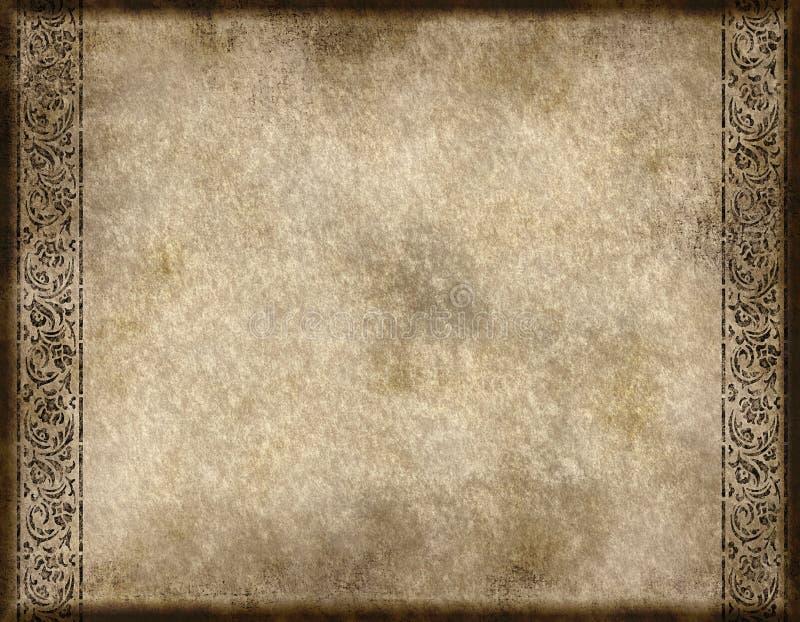 老纸羊皮纸 皇族释放例证