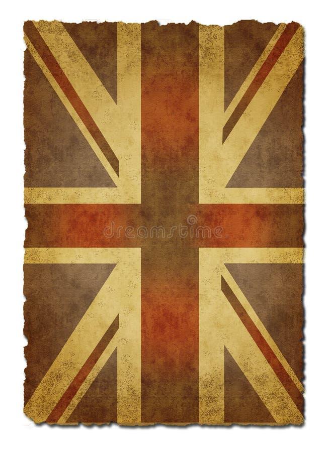 老纸英国国旗 免版税图库摄影