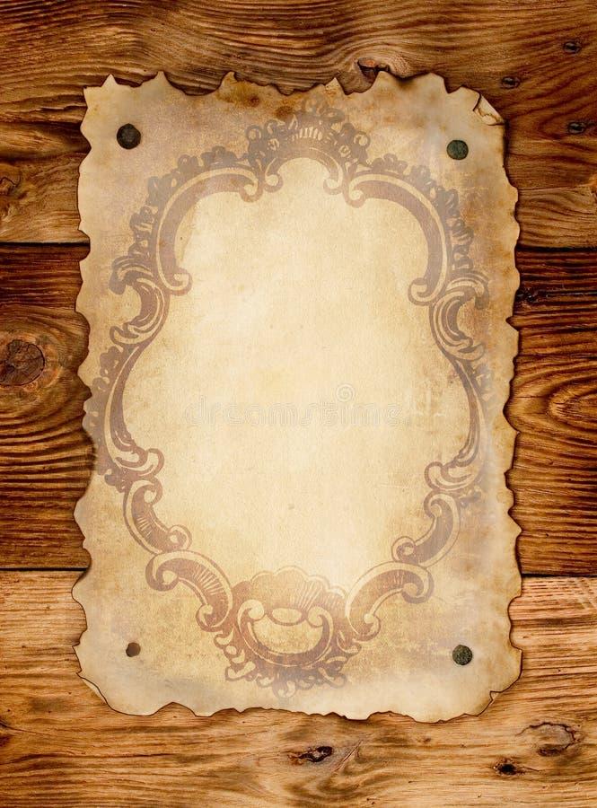 老纸葡萄酒 库存图片