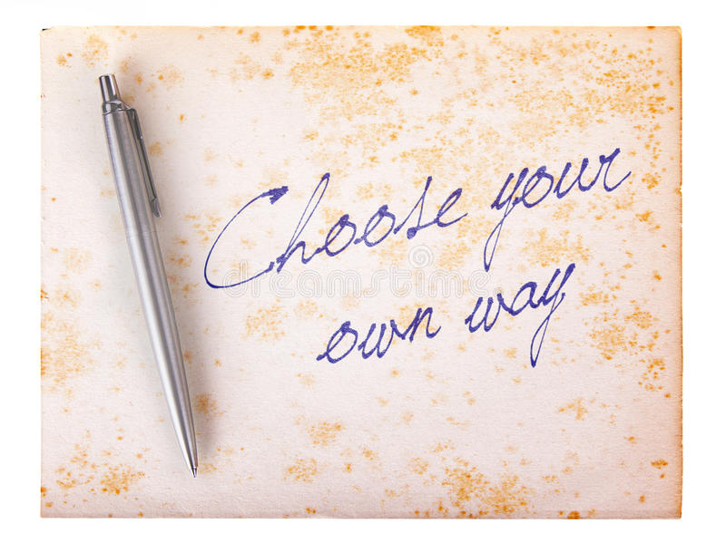 老纸难看的东西背景-选择您自己的方式 图库摄影