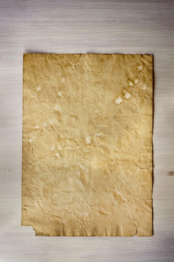 老纸,白色木纹理 免版税图库摄影