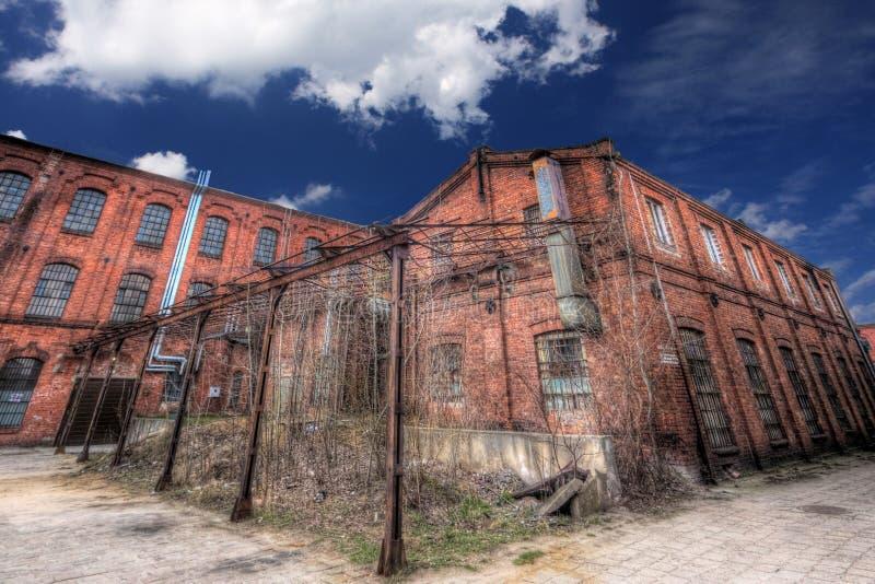 老纺织品工厂 免版税库存照片