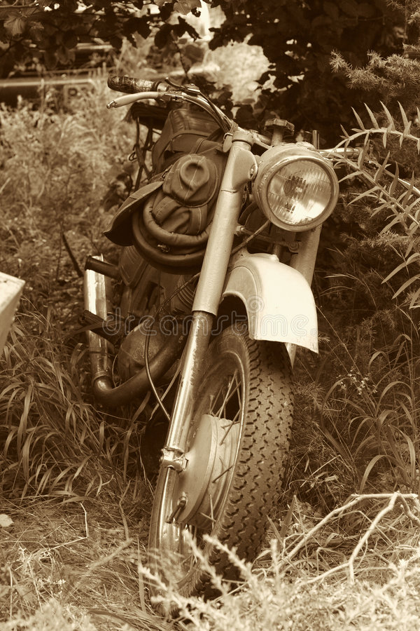 老经典摩托车 库存照片