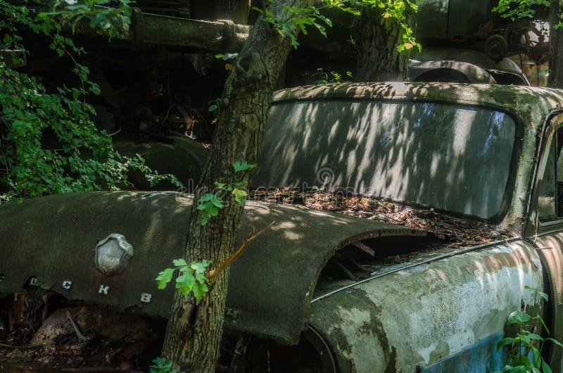 老经典汽车前面 图库摄影