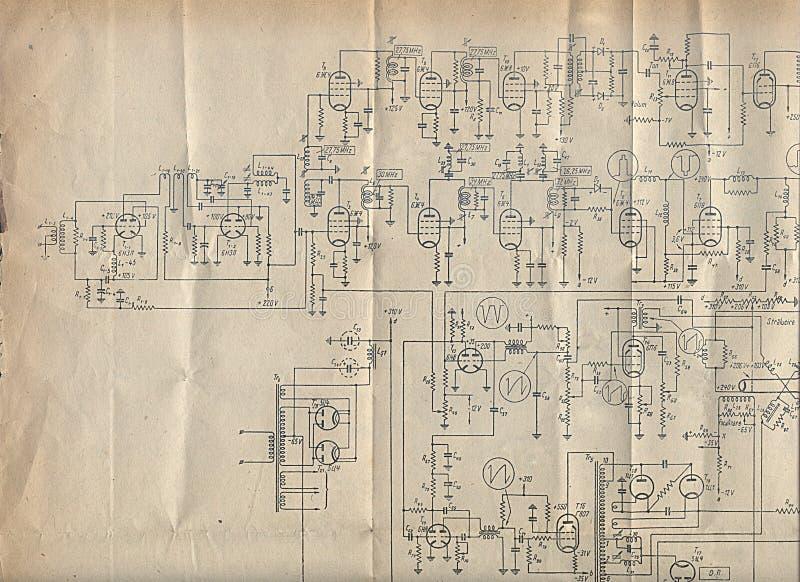 老绘制电子 免版税库存照片