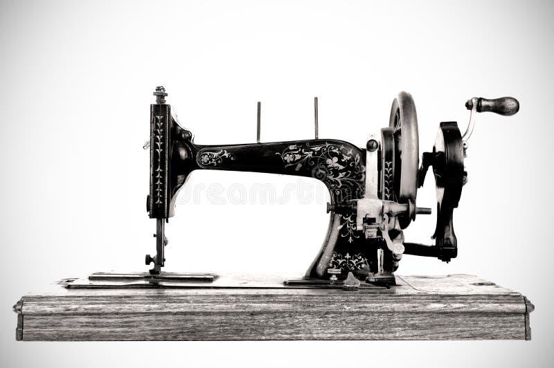 老缝纫机 库存照片