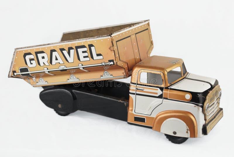 老罐子玩具卡车 库存图片