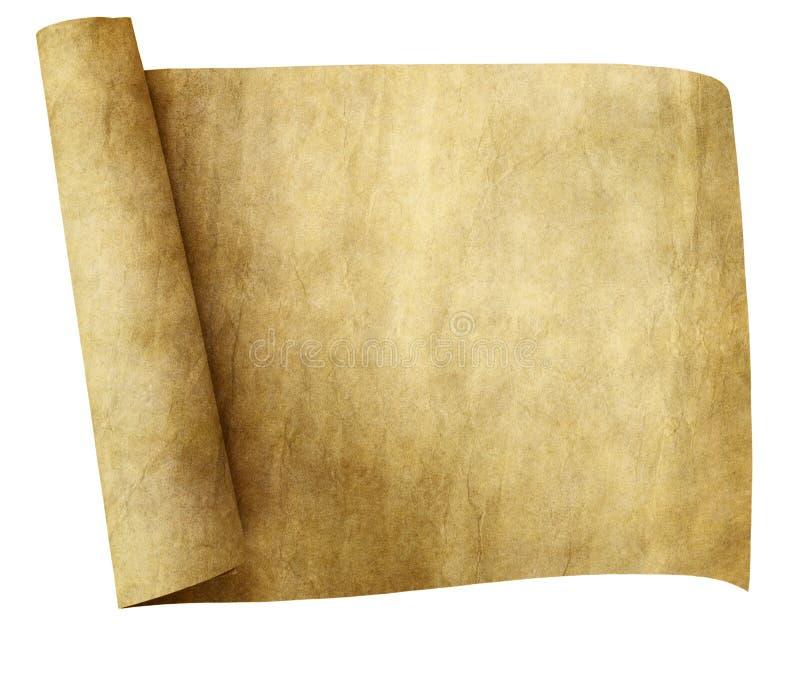老羊皮纸滚动 库存例证
