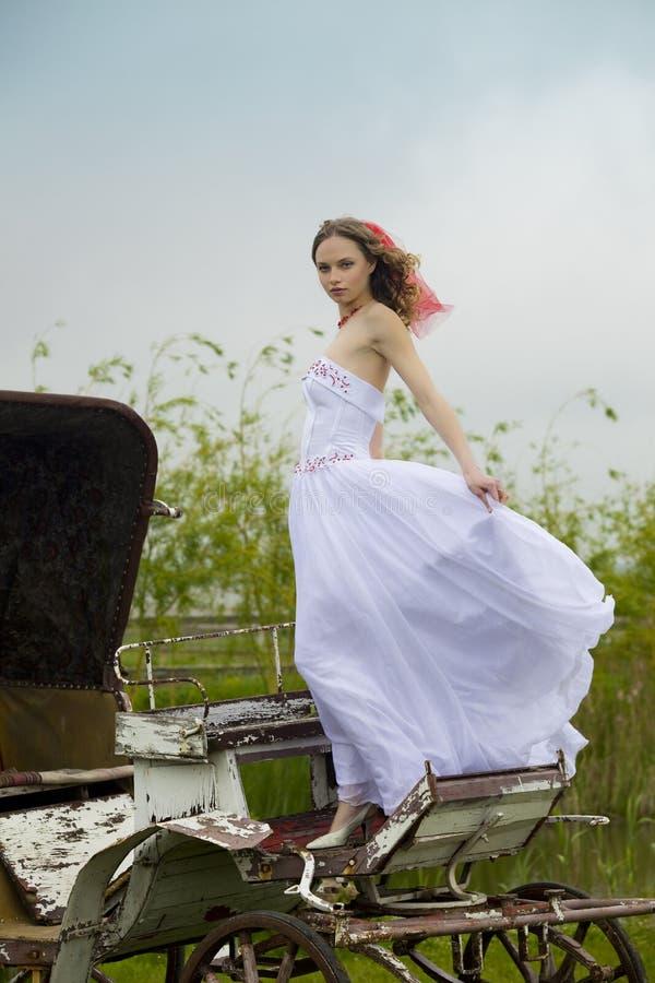 老美丽的新娘支架 图库摄影