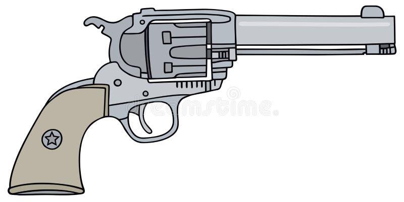 老美国手枪 库存例证