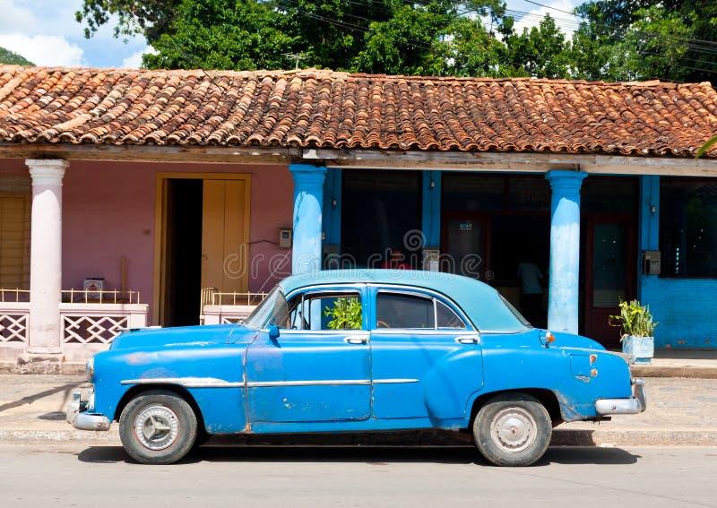 老美国汽车在古巴 图库摄影