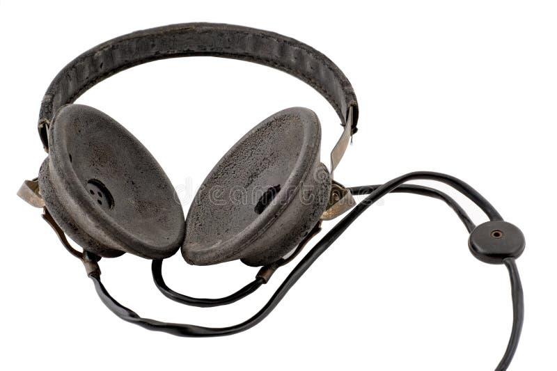 老耳机 库存照片