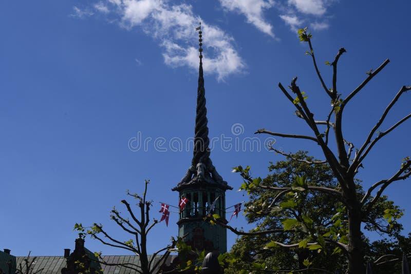 老联交所大厦在哥本哈根丹麦 免版税库存图片