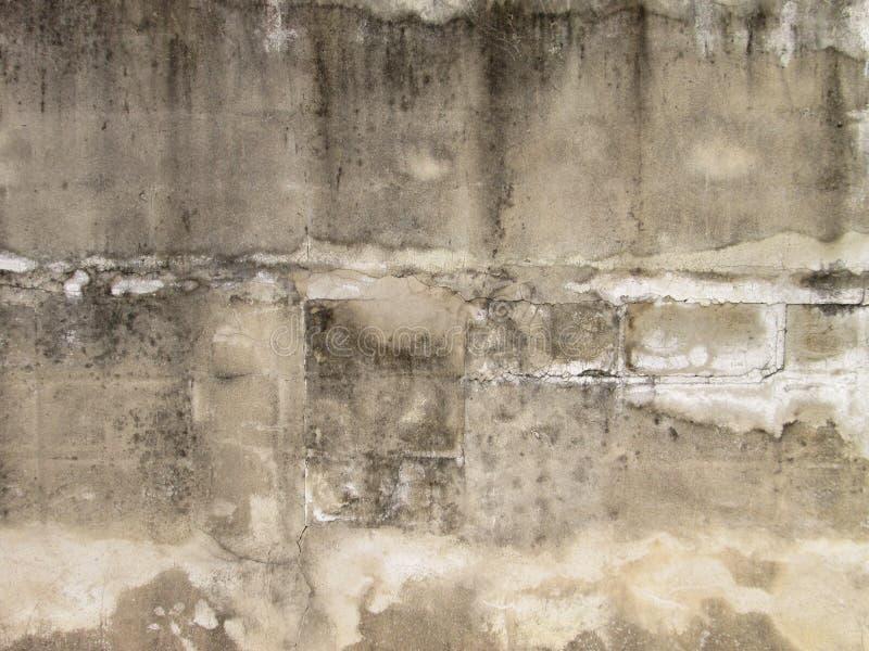 老肮脏的混凝土墙背景 免版税图库摄影