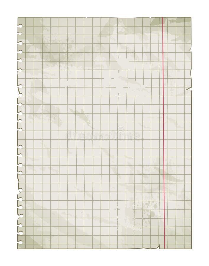 老肮脏的纸页 向量例证
