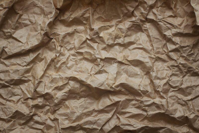 老肮脏的被粉碎的纸背景纹理 葡萄酒信件模板 库存照片