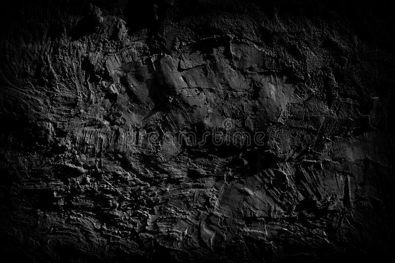 老肮脏的水泥墙壁的黑暗的表面 免版税库存照片