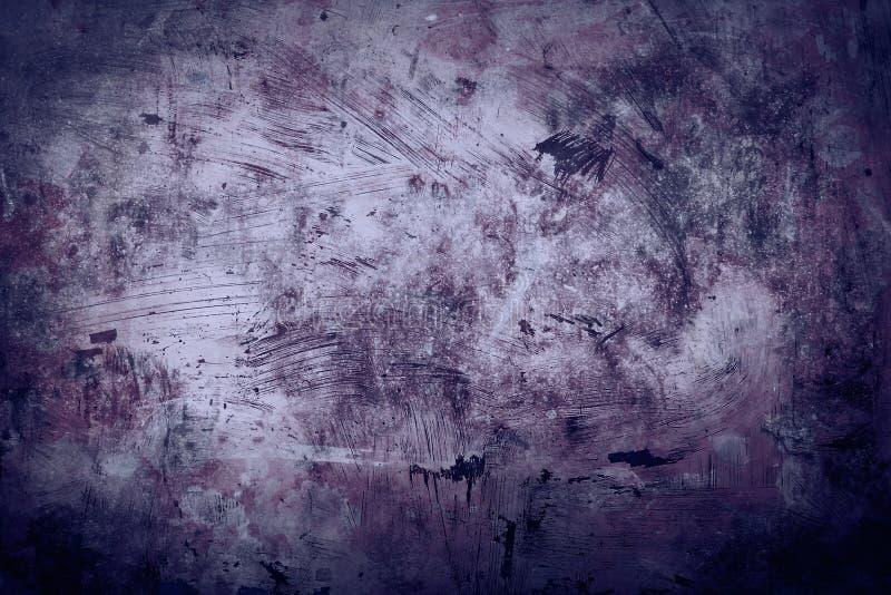 老脏的紫色墙壁背景 库存图片