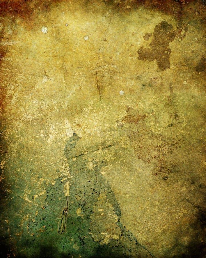 老膏药腐烂的纹理墙壁 库存例证
