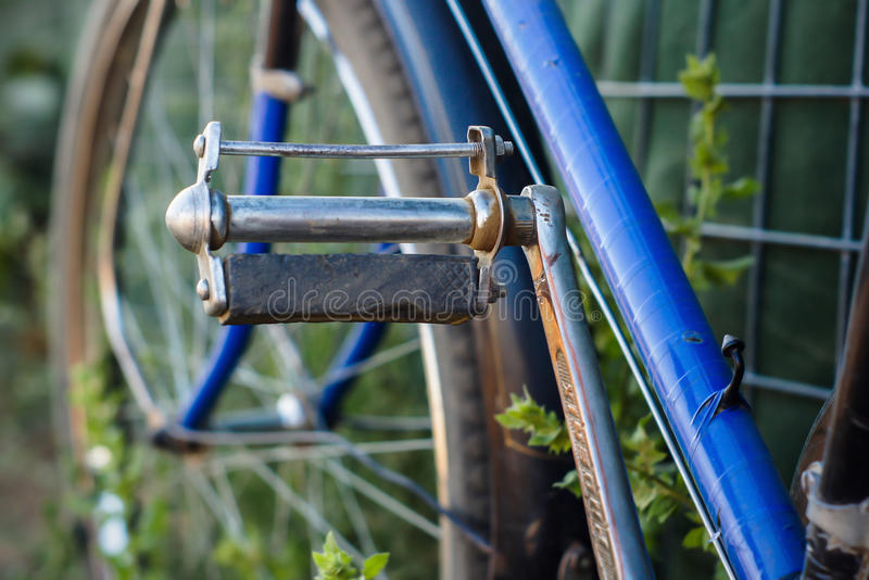 老自行车脚蹬 库存图片