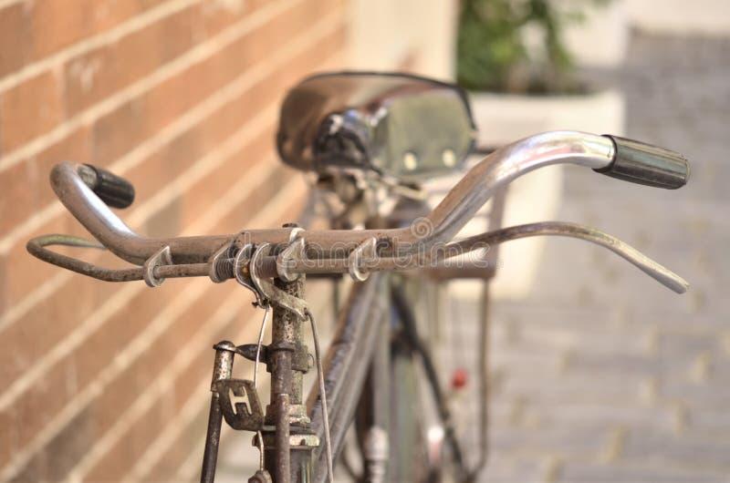 老自行车细节  库存图片