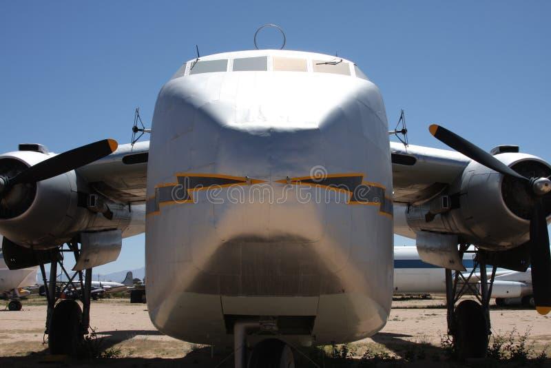 老航空器货物 免版税库存图片