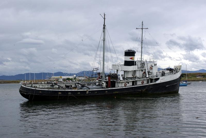 老船ushuaia 免版税库存照片