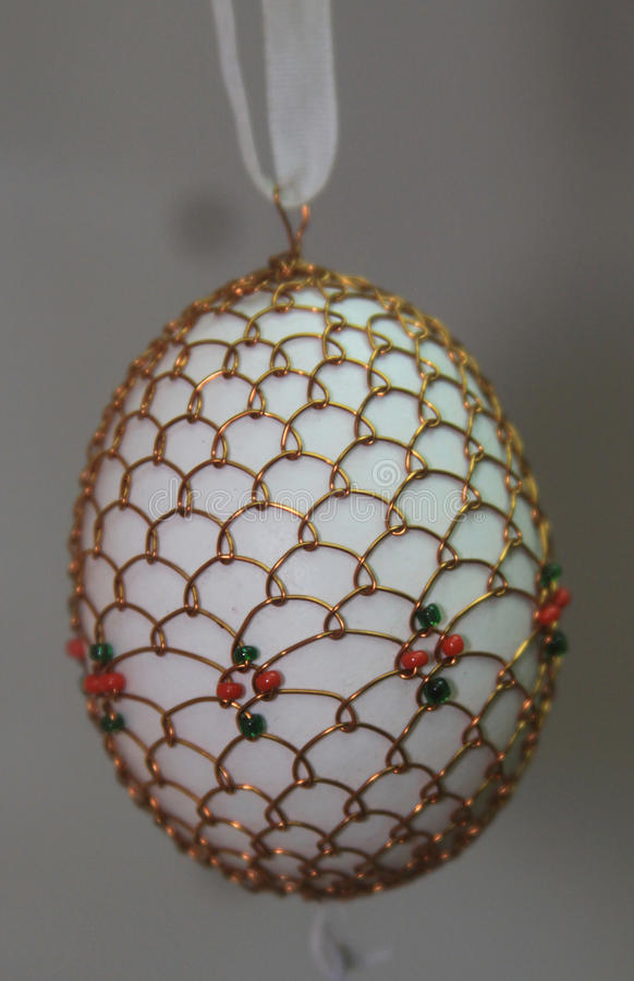老艺术性的复活节彩蛋设计 图库摄影