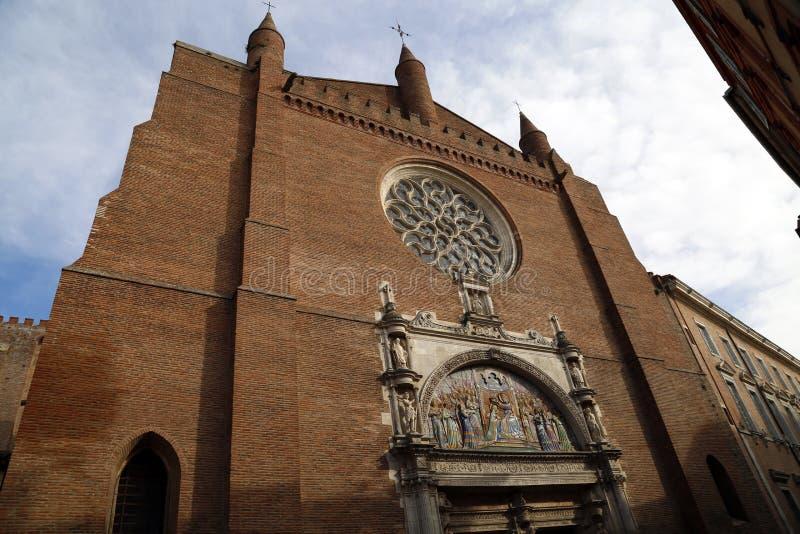 老花岗岩教会在图卢兹 免版税库存图片