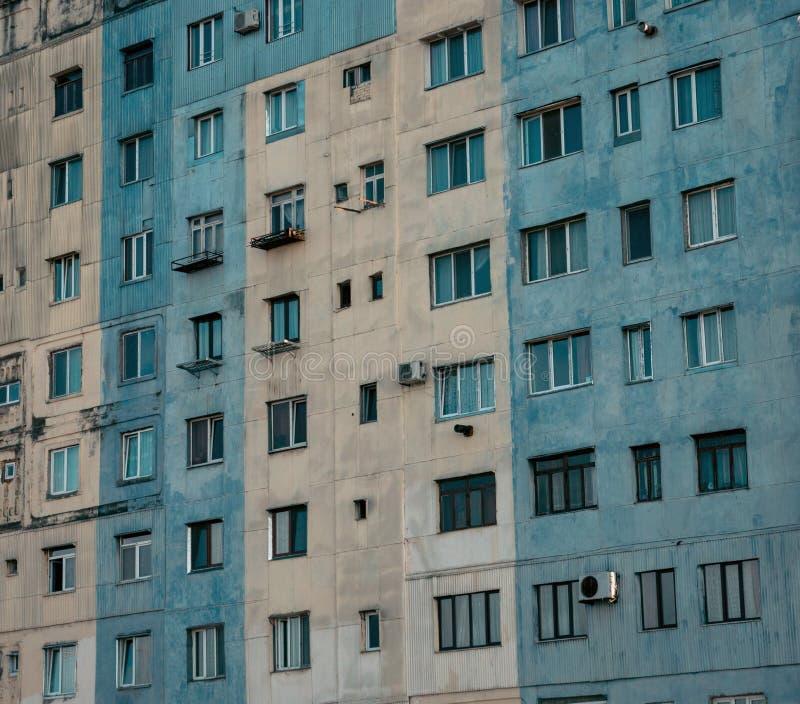 老苏联房子在巴统, 免版税库存图片
