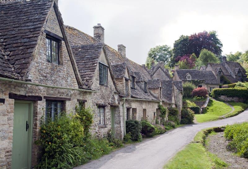 老英国国家村庄行  免版税库存照片