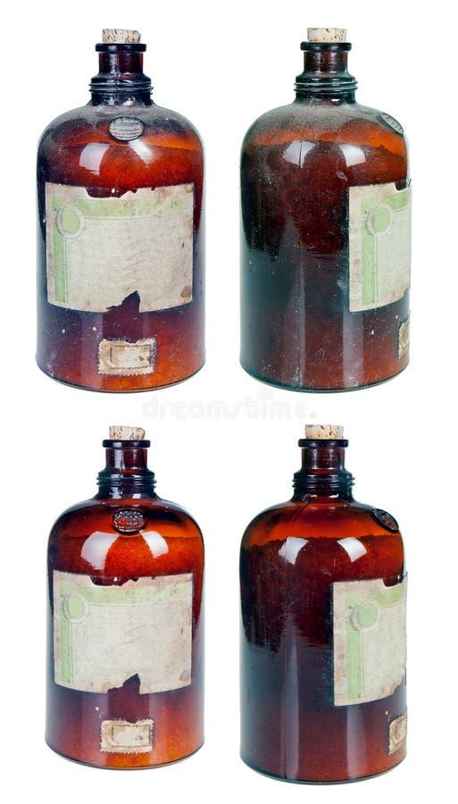 老药房瓶 免版税图库摄影