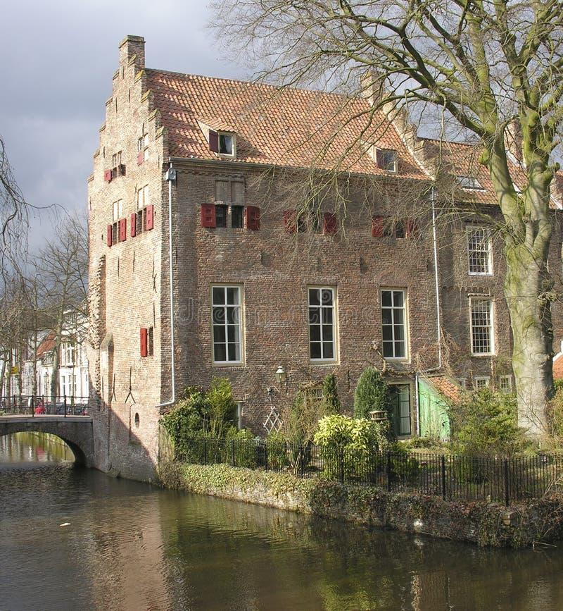老荷兰语房子 免版税图库摄影