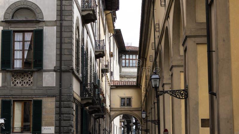 老著名地标建筑学场面在佛罗伦萨,意大利 免版税库存照片
