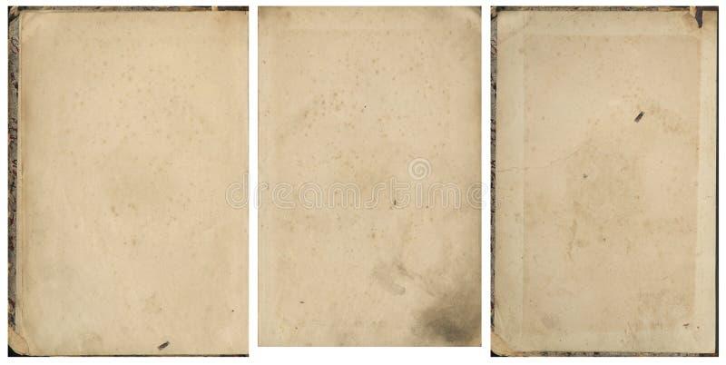 老葡萄酒书纸的汇集 免版税库存照片