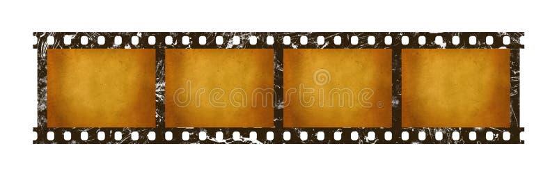 老葡萄酒减速火箭的35 mm影片小条框架 皇族释放例证