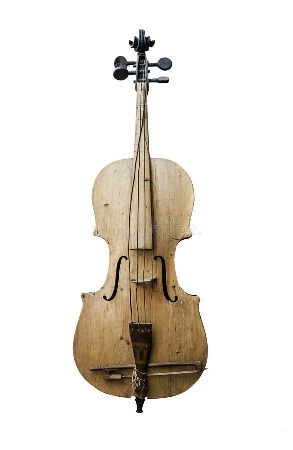 老葡萄酒小提琴 免版税库存照片