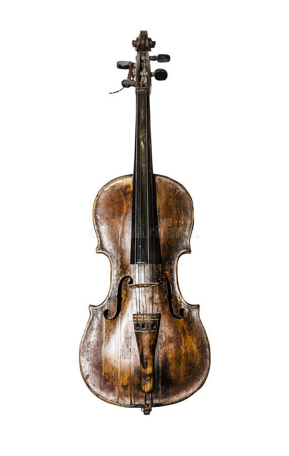 老葡萄酒小提琴 免版税库存图片