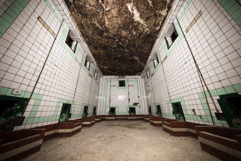 老葡萄酒库的一个内在部分 免版税图库摄影