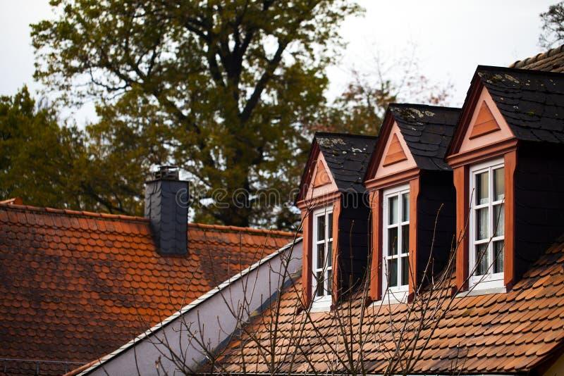 老葡萄酒德语安置建筑学 免版税库存照片
