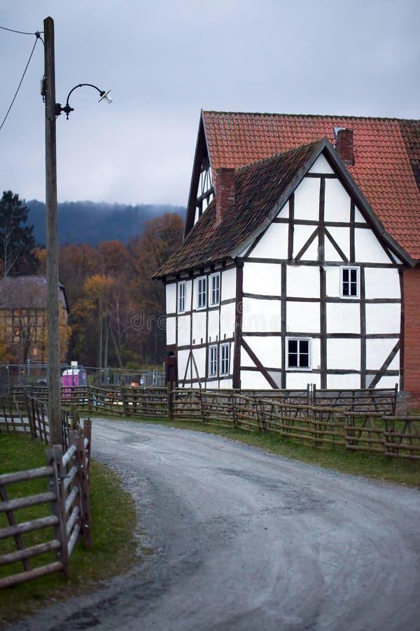 老葡萄酒德语安置建筑学 库存图片