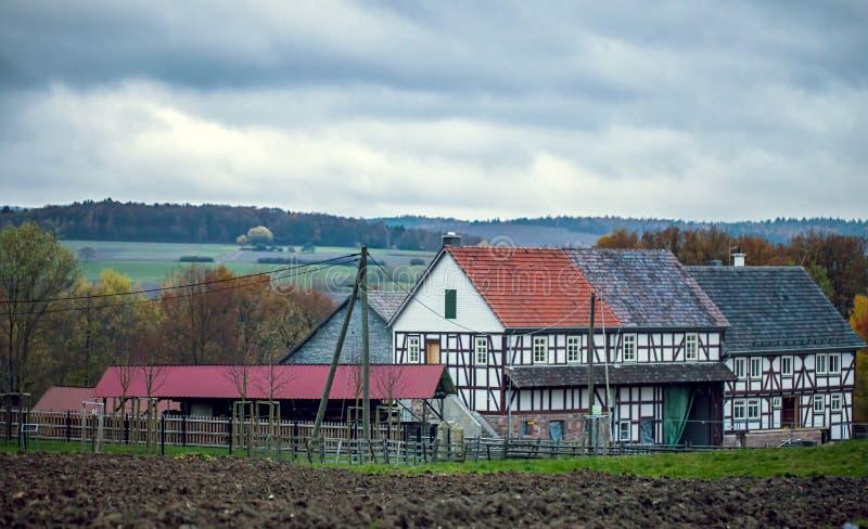 老葡萄酒德语安置建筑学 免版税图库摄影