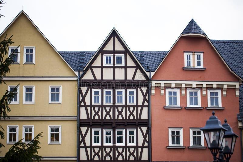 老葡萄酒德语安置建筑学 免版税库存图片