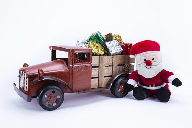 老葡萄酒玩具卡车 库存照片