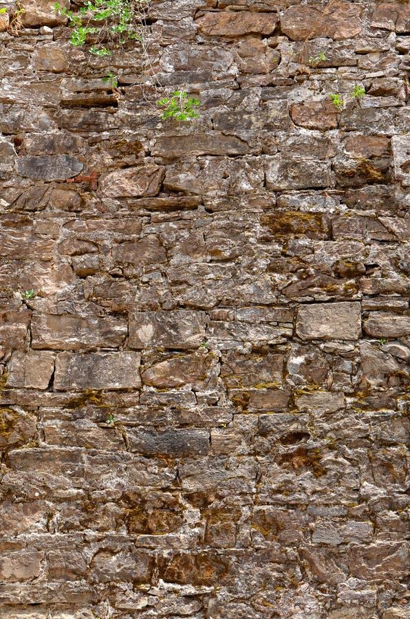 老葡萄酒砖墙纹理背景,佛罗伦萨,意大利 免版税图库摄影