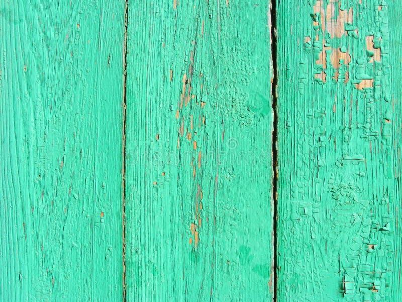 老葡萄酒绿色木纹理背景 破旧的别致的室内设计 免版税库存图片